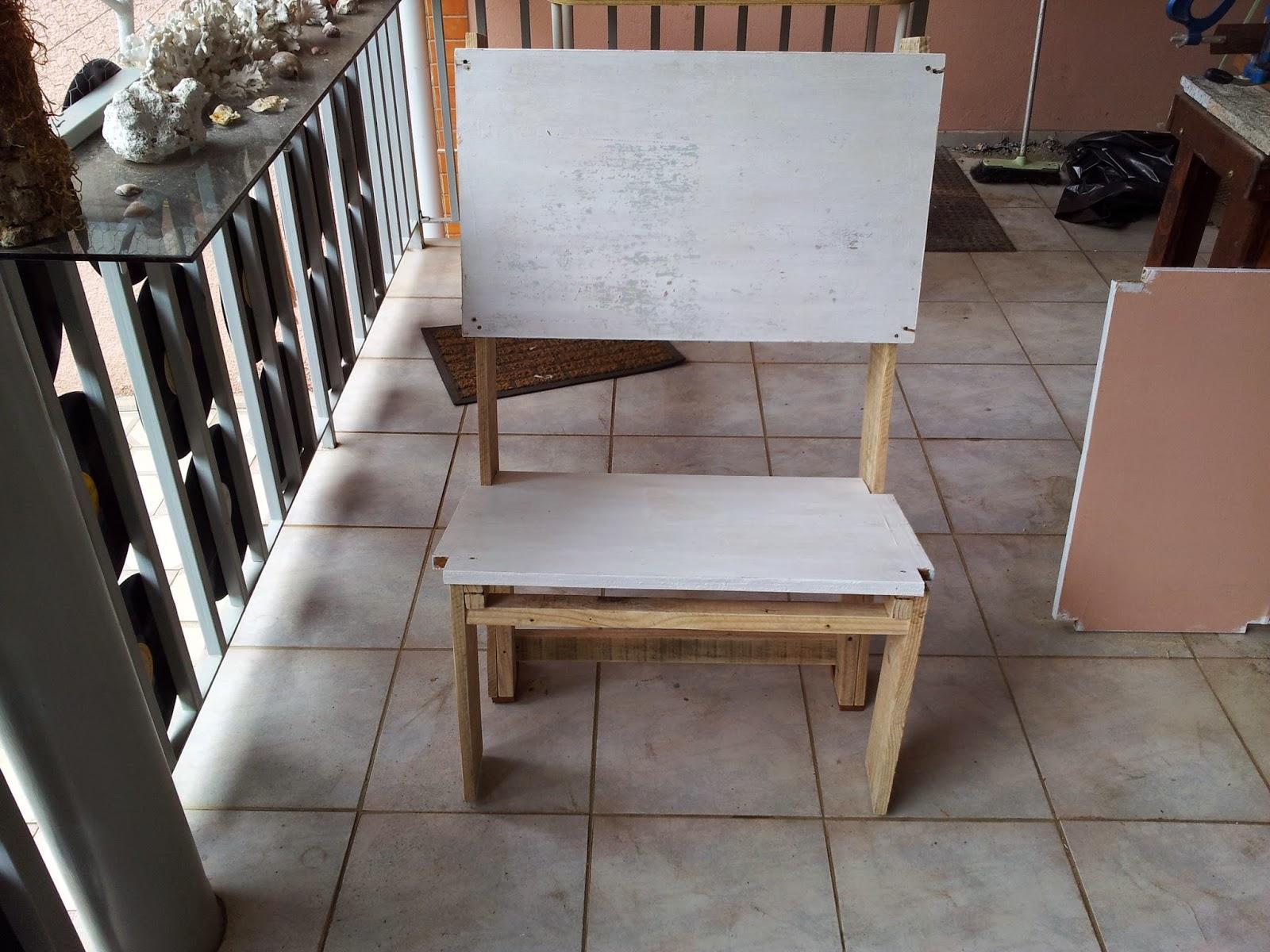 Oficina do Quintal: Como fazer banco de madeira com encosto #9D5D2E 1600x1200