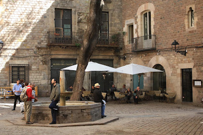Sant Felip Neri Square inside the Barcelona Gothic Quarter