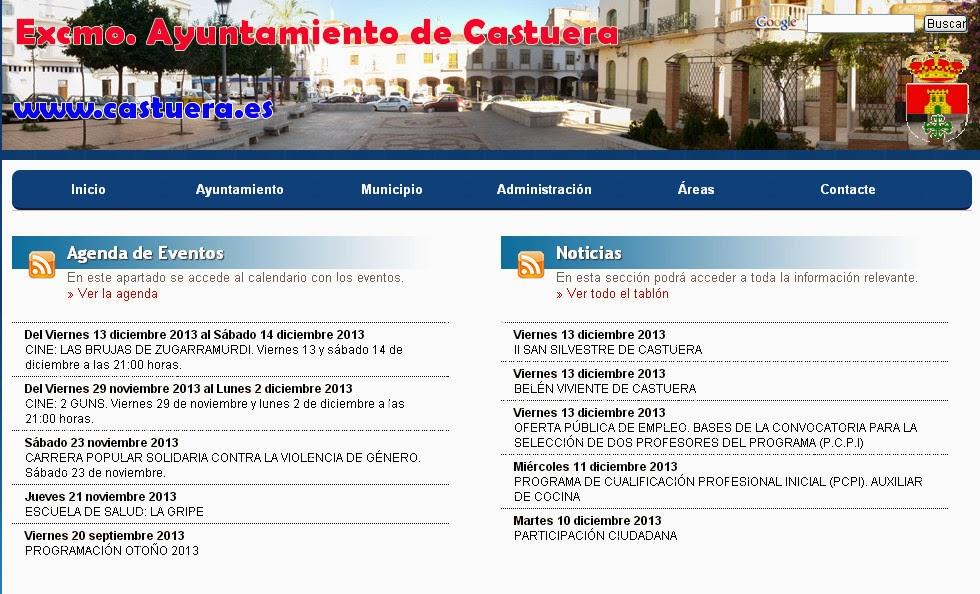 Web Ayuntamiento de Castuera