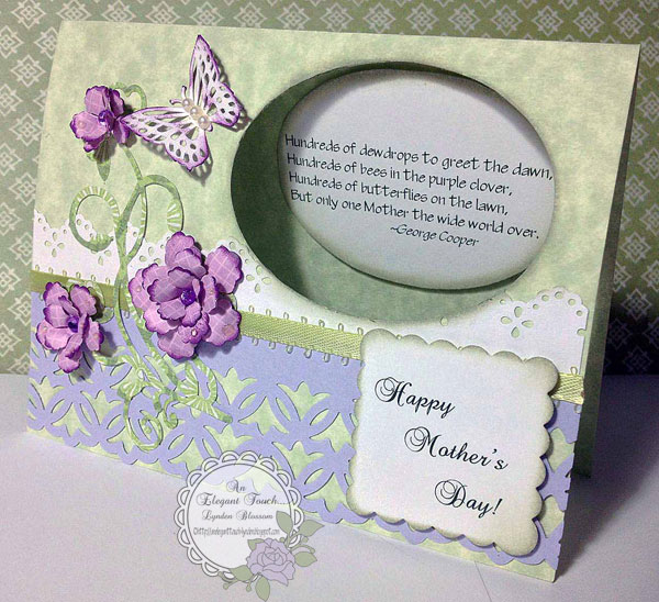 An elegant touch a mother 39 s day card for Classy mothers day cards