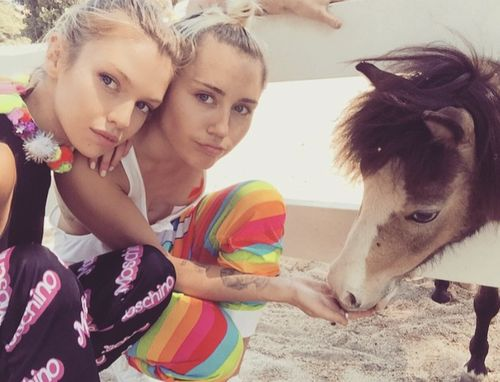 Miley Cyrus and Stella Maxwell