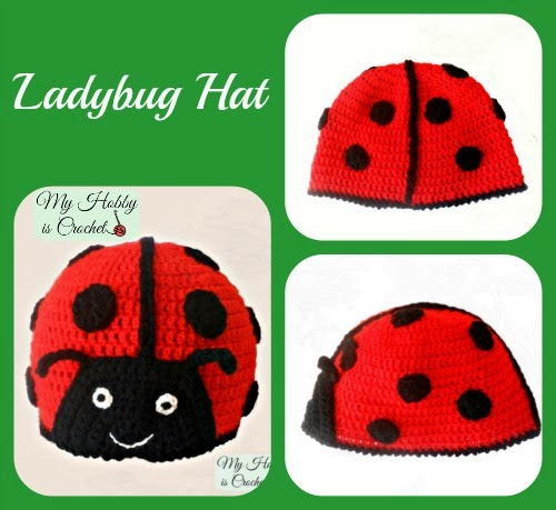 My Hobby Is Crochet Crochet Ladybug Hat With Link To Free Pattern