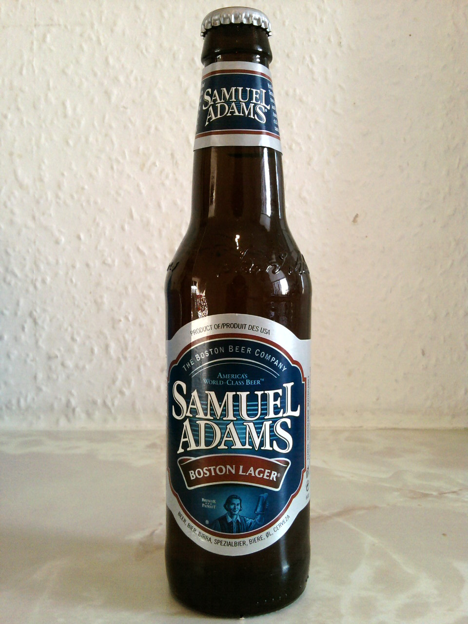 1 chilled bottle of Sam Adams Boston Lager or 1 Coors Original Beer