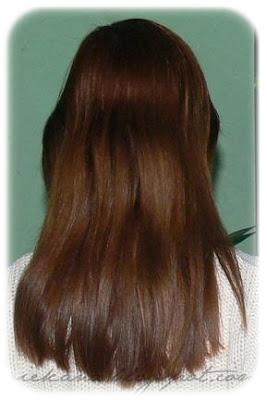 Szampon koloryzujący Marion 4-8 myć, kolor 95- kasztan efetk na włosach