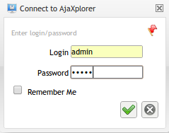 Login AjaXplorer