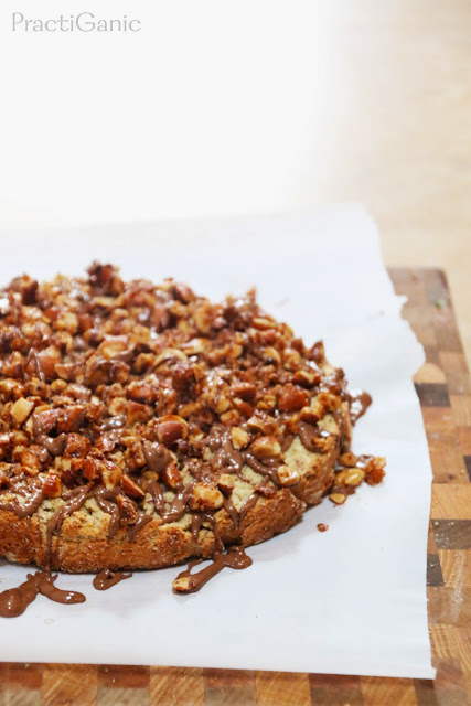 Gluten Free Almond Coconut Cake with Candied Almonds