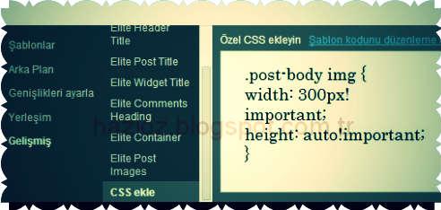 blogger css kod