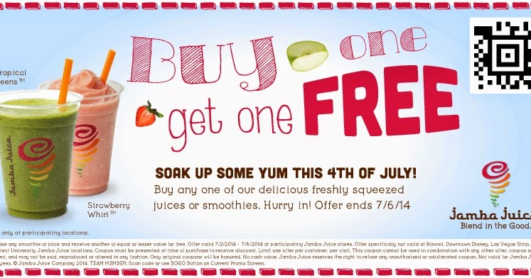 graphic relating to Jamba Juice Printable Coupon titled Jamba juice acquire a person order a person free of charge coupon / Treasure island st