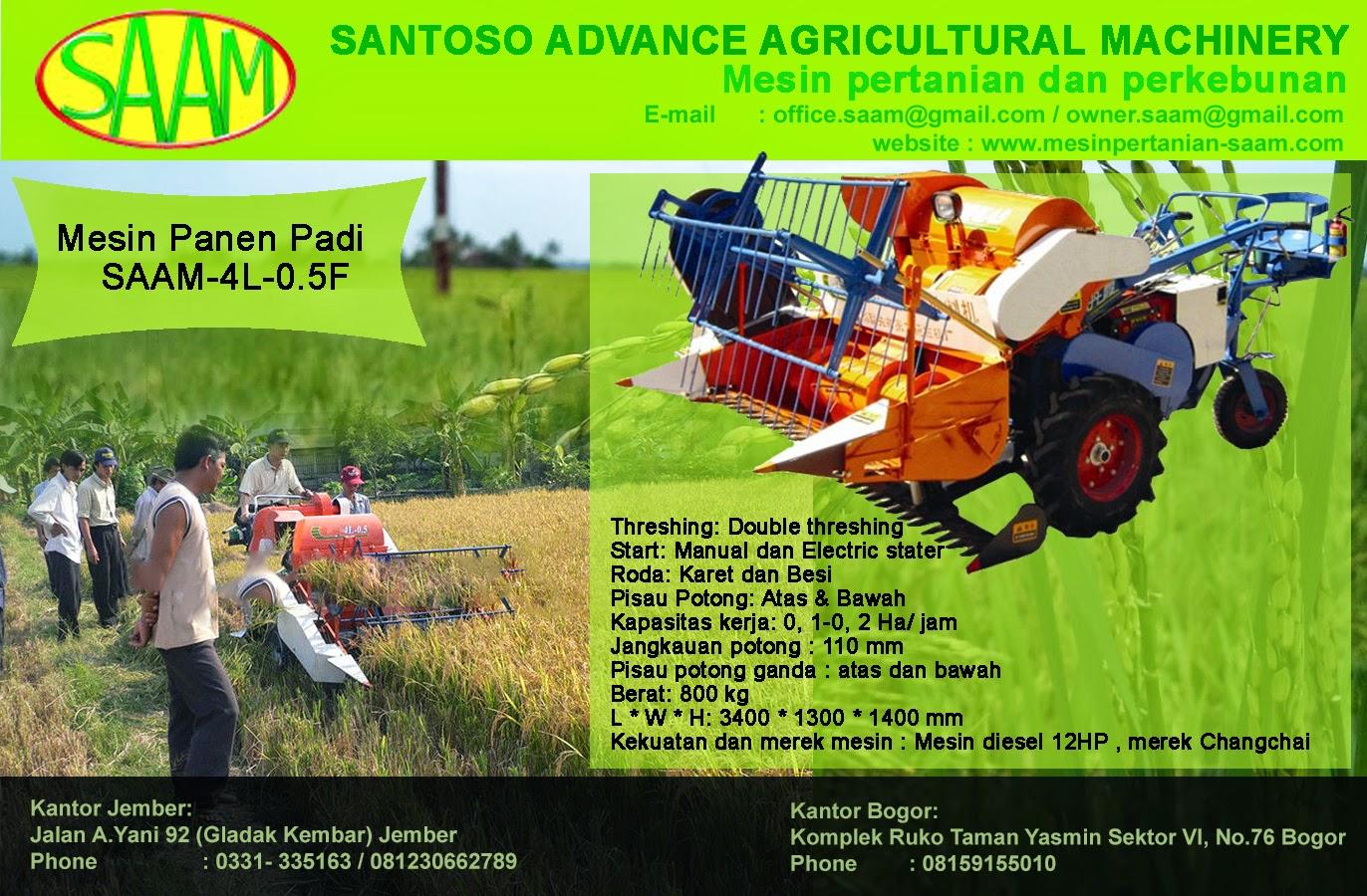 Mesin Panen Padi Mini Rice Combine Harvester Saam 4l 05f Paket Tudung 1 Pisau Dan Gearcase Kekuatan 168 12hp Electric Stater