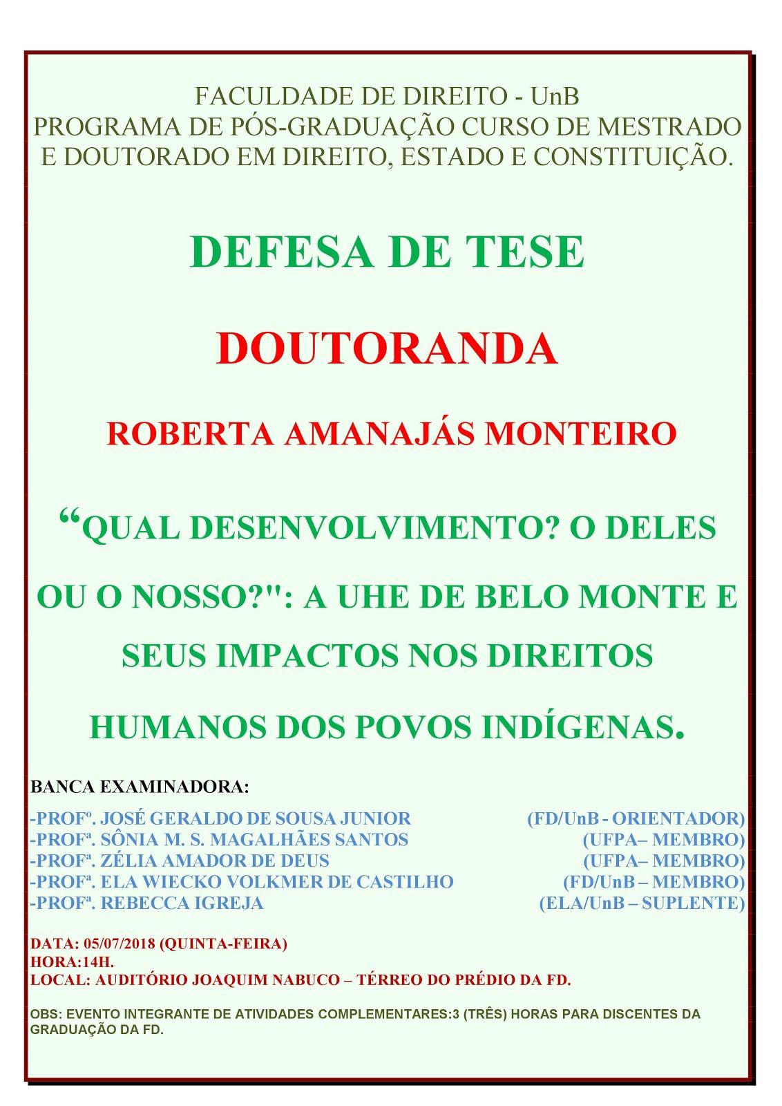 Convite Defesa de Tese de Doutoramento