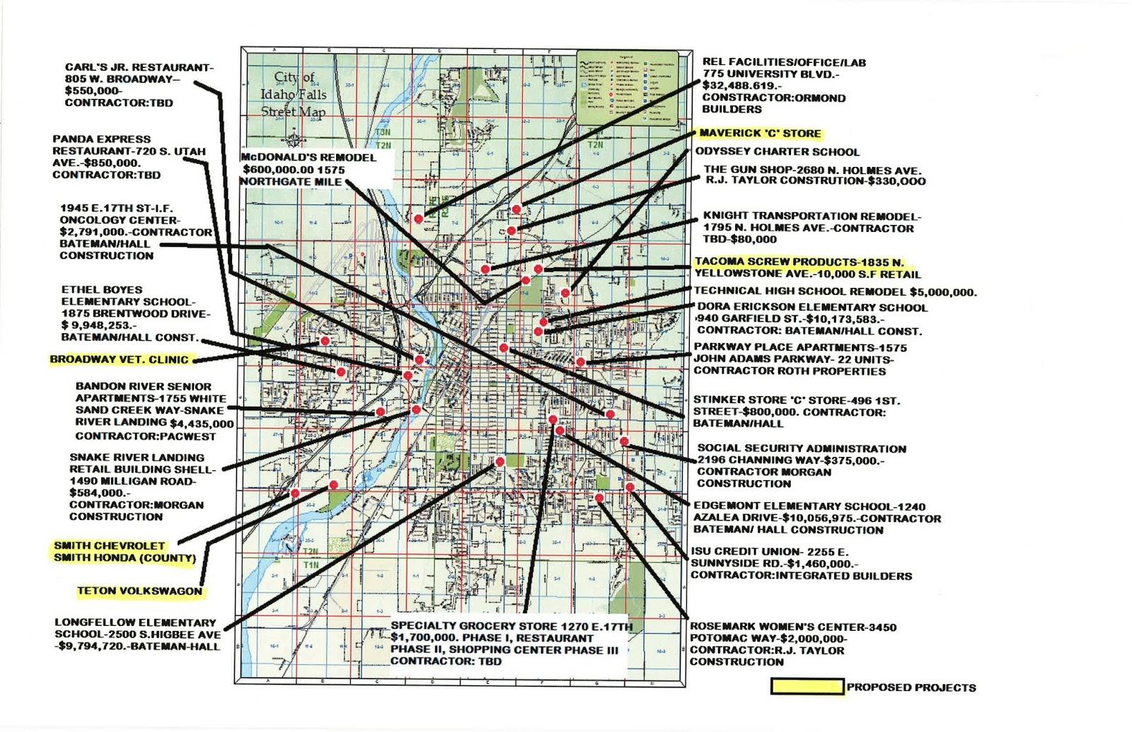 BizMojo Idaho Idaho Falls compiles development map for 2013