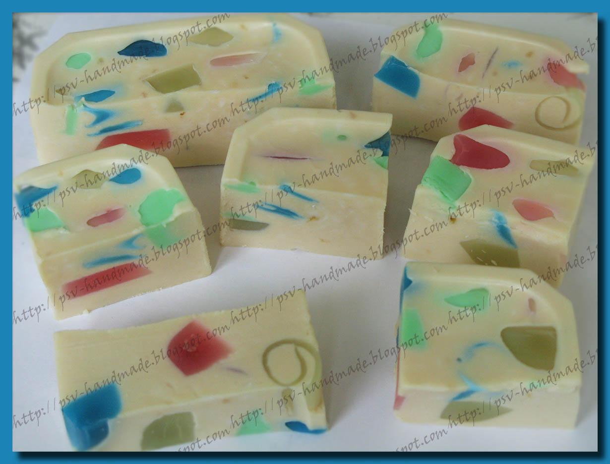 Разноцветное мыло своими руками