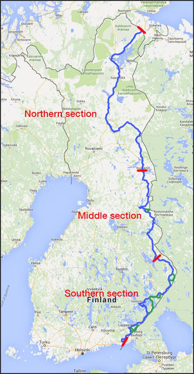 EuroVelo 13 Finland Route maps