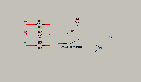 Circuito Operacional : Electronica iii promediador inversor