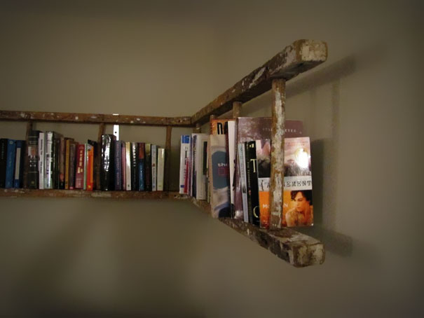 Upcycling Furniture 1. Ladder. Use A Ladder As A Towel Rail, Paint With  Distressed Finish To Create A Country Living Feel. Book Shelf, Get Creative.