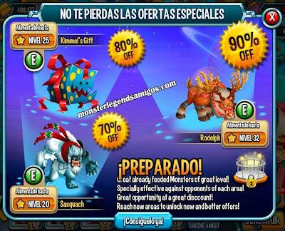 imagen de la oferta de navidad de monster legends