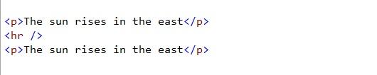 html line