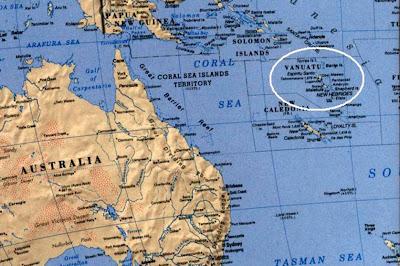 Sísmo de 7,1 grados golpeó el Pacífico Sur cerca de Vanuatu, 09 de Marzo de 2012