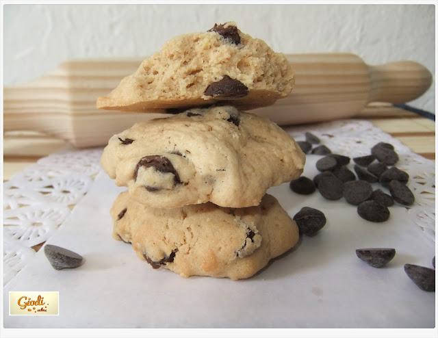 Cookies con lagrimas de chocoloate negro. Receta