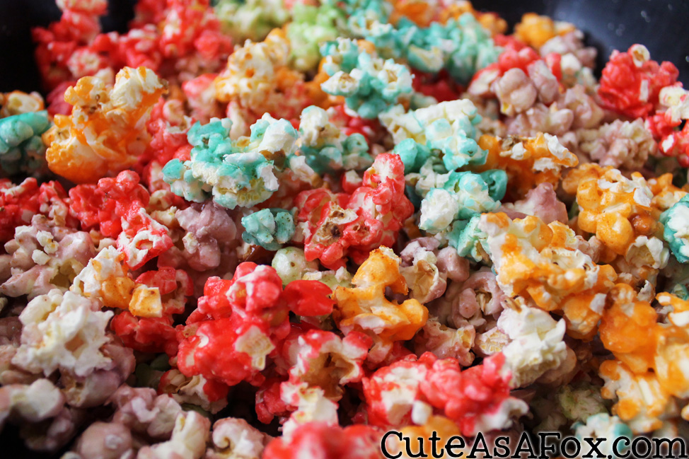popcorn in different colors