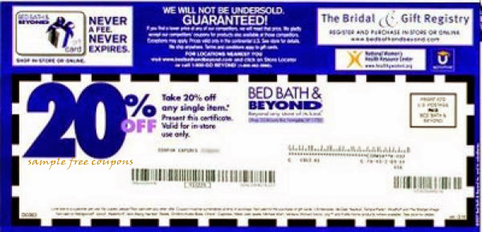 Printable discount coupons for bed bath and beyond
