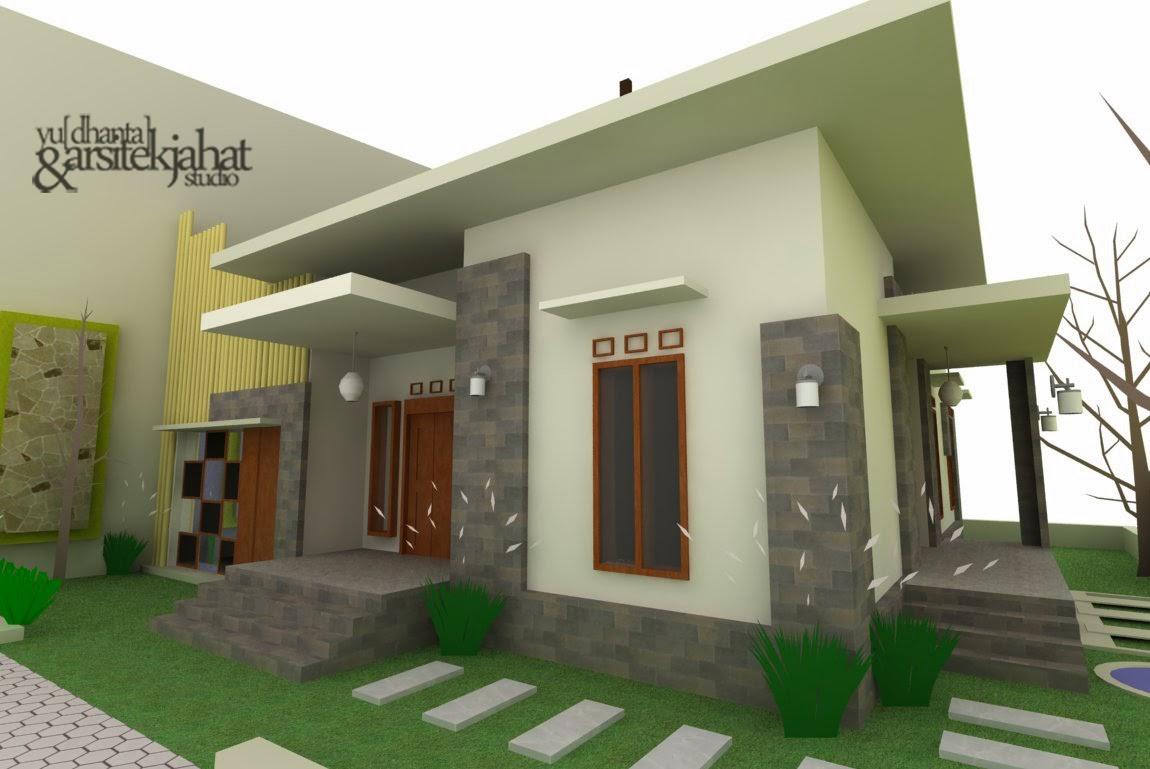 contoh desain rumah tinggal sederhana minimalis merpati