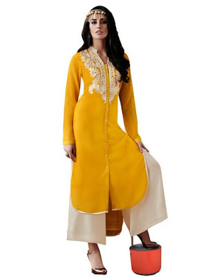 Yellow Kurti Designs 2016