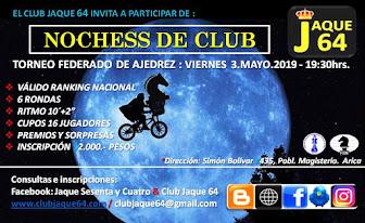 AJEDREZ NOCTURNO - CLUB JAQUE 64