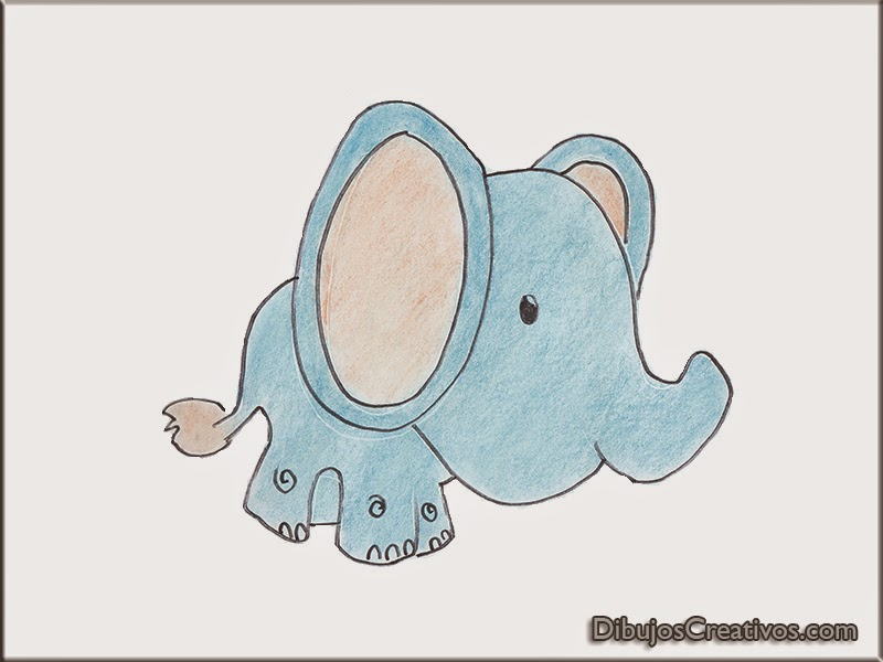 Dibujos de Elefante Bebé para colorear - Imágenes Dibujos para ...