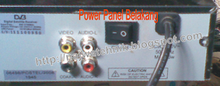 Panel belakang pada Matrix hd Ethernet