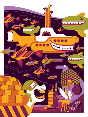 The Beatles Yellow Submarine Print Set by Tom Whalen - Print 3 Standard Edition