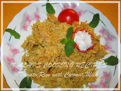 Tomato Rice with Coconut Milk