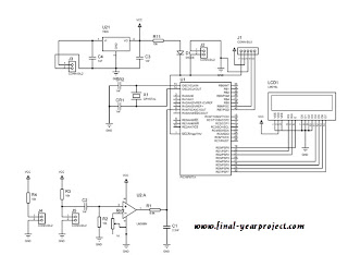 Circuit diagram of Heartbeat Monitoring System