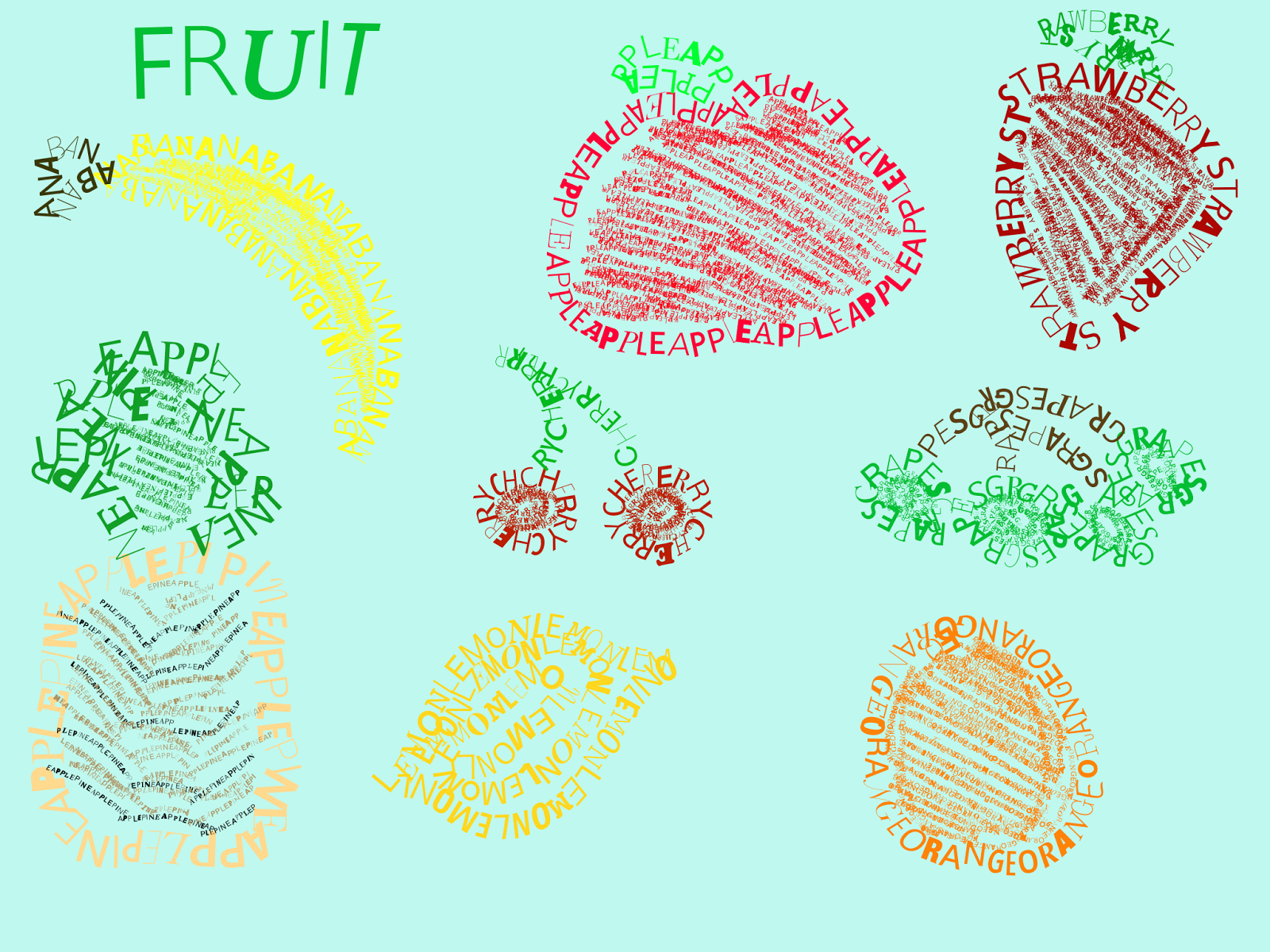 fruitastic learning in year 1