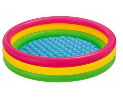 Get Intex Kiddie Pool - Kid's Summer Sunset Glow Design for $15.49 !  (Reg. $28) + Other Water Toy Deals!