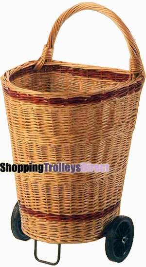 Wicker shopping trolleys