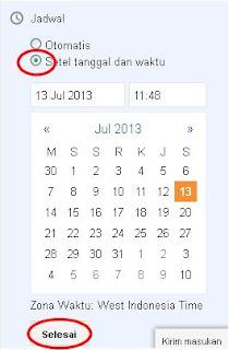 setel tanggal dan waktu