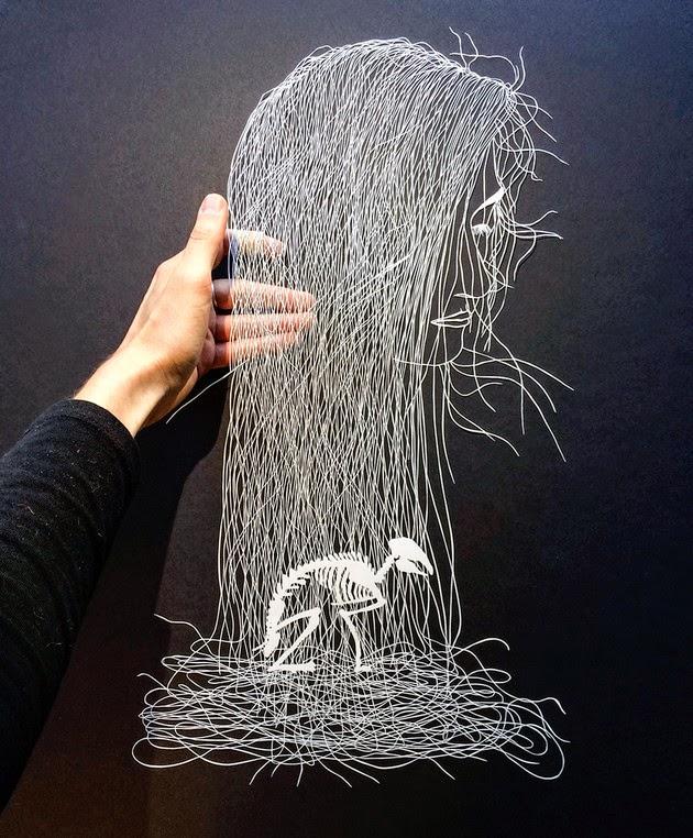 cut paper art illustrations maude white