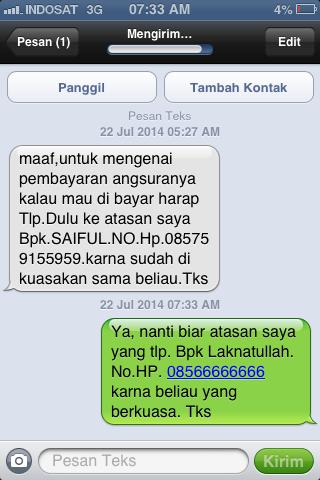 Modus sms penipuan yang pernah saya terima | Mas Kid Blog