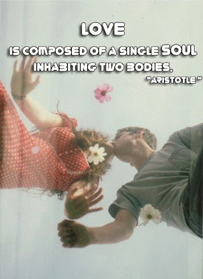 facebook Poste image quotes (Love is composed of a single soul inhabiting two bodies.)
