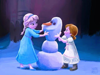 Foto Anna dan Elsa Frozen Kecil