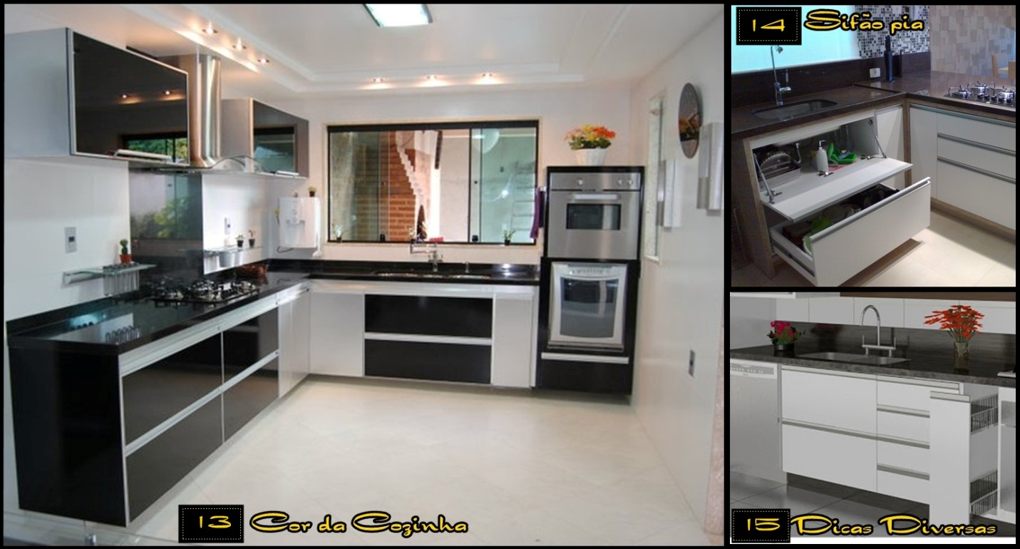 #654835 Meu Palácio de 64m²: Dicas para Cozinha Planejada 1431x770 px Projeto De Cozinha Com Janela_4573 Imagens