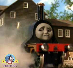Thomas and friends Emily green train engine puffed quickly Toby's windmill new route train travel