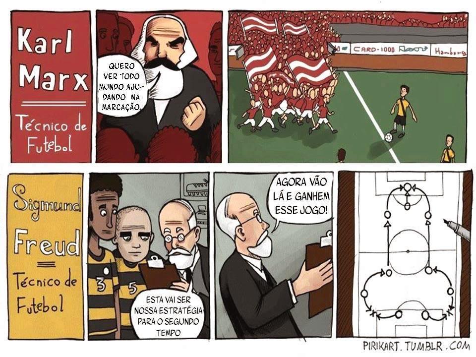Sigmund Freud, Karl Marx, Futebol, Treinadores, Técnicos de Futebol, Psicanálise do Futebol