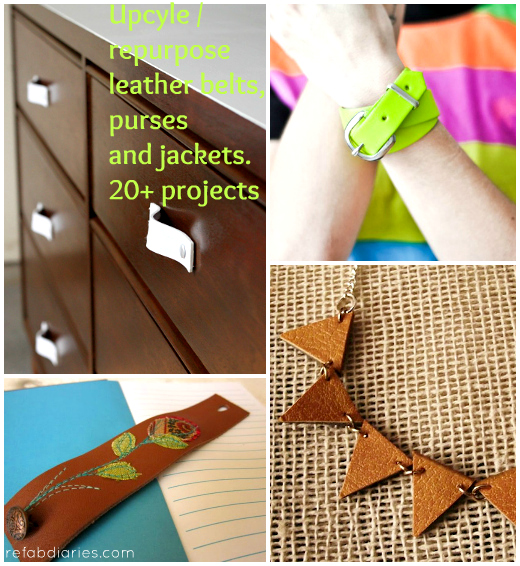 Upcycle: Leather belts, purses and jackets!
