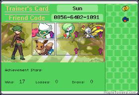 Sun's Trainer Card
