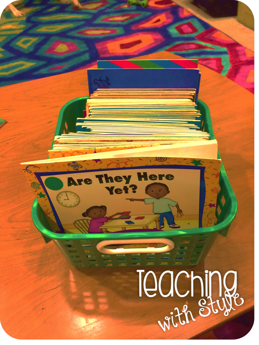 Bright ideas in august teaching with style here is a basket of old leveled readers at my new school that im going to use for take home books nvjuhfo Gallery