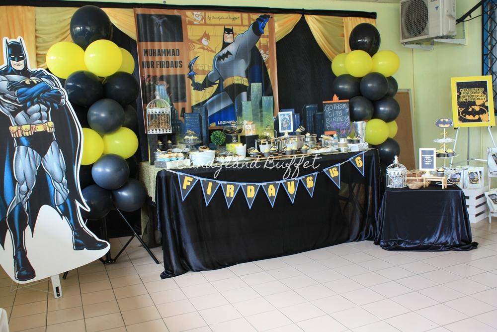 Candy Buffet Kota Kinabalu Sabah Batman Birthday Theme