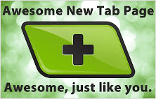 Awesome new tab page extension for Chrome browser