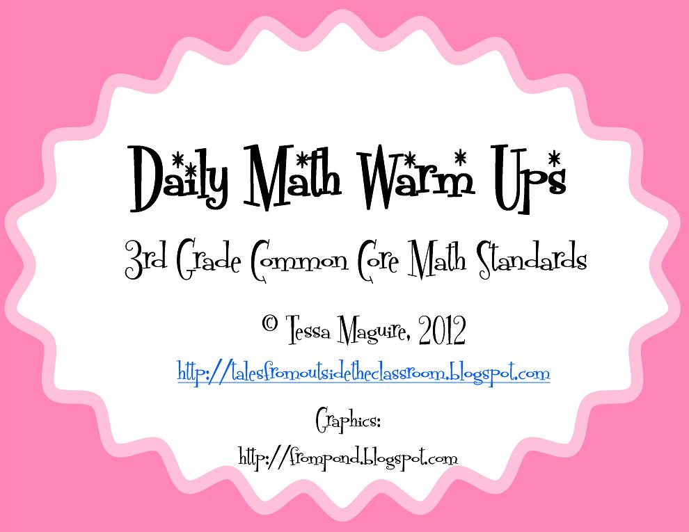 Classroom Freebies: 3rd grade Common Core Math Warm Ups